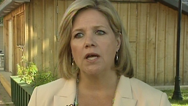 Ontario NDP Leader Andrea Horwath speaks in Cambridge, Ont. on Monday, July 30, 2012.