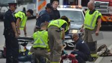 Pedestrian hit by GRT bus
