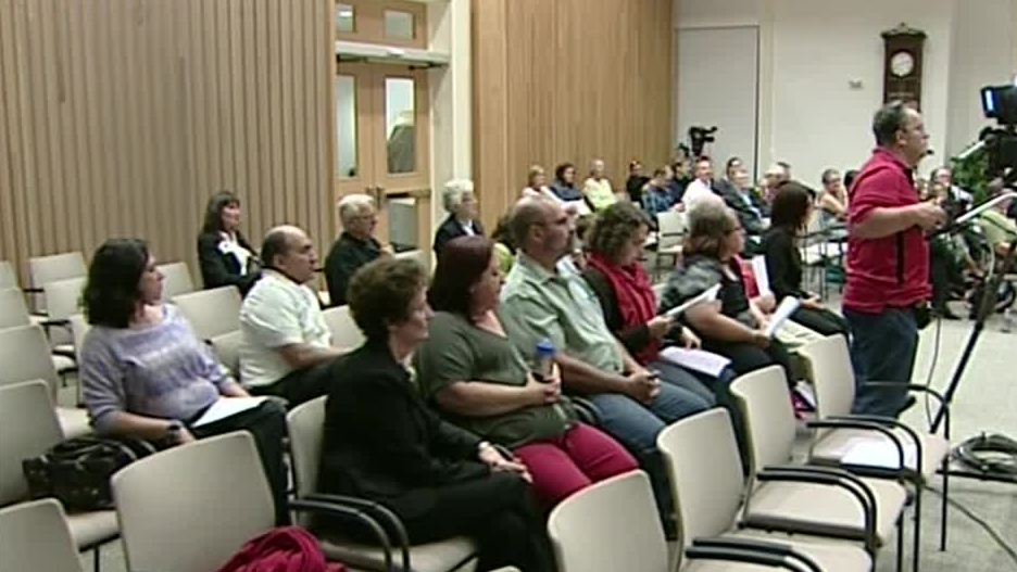 Delegations wait to speak about same-sex marriage at a city council meeting in Cambridge, Ont. on Monday, Sept. 10, 2012.