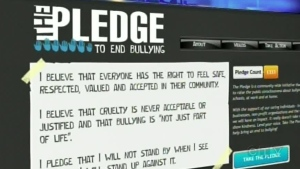 You can take 'The Pledge to End Bullying' by visiting: thepledgetoendbullying.ca